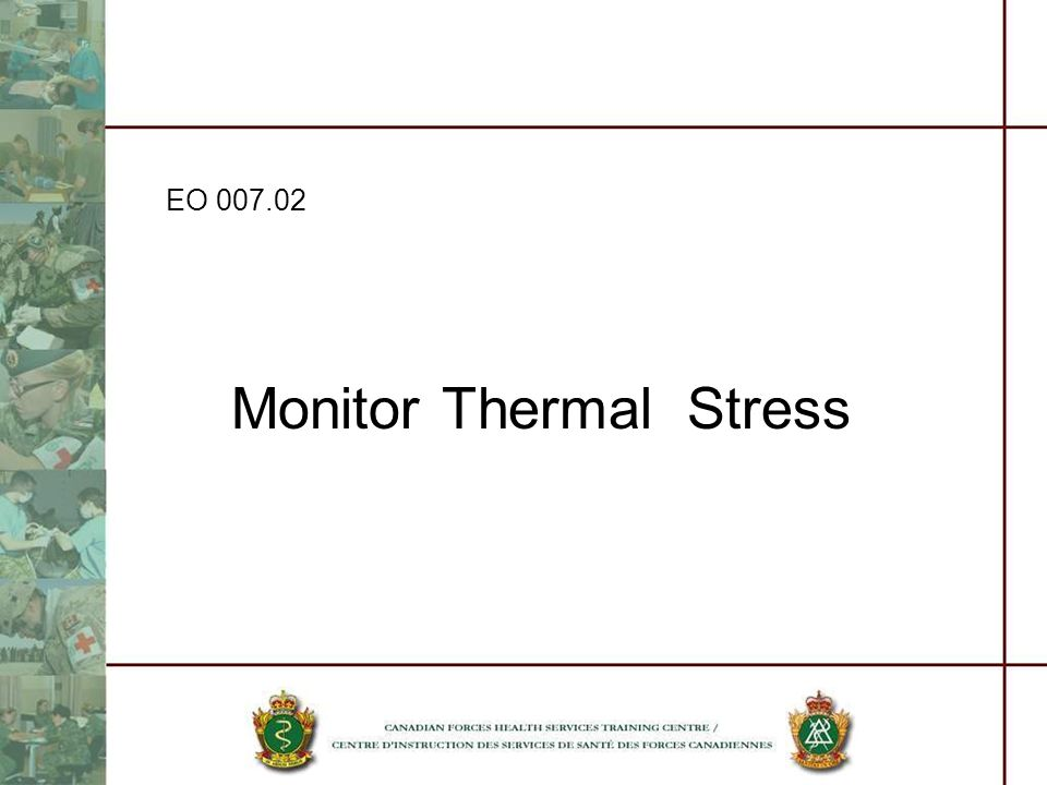 Monitor Thermal Stress EO 007.02