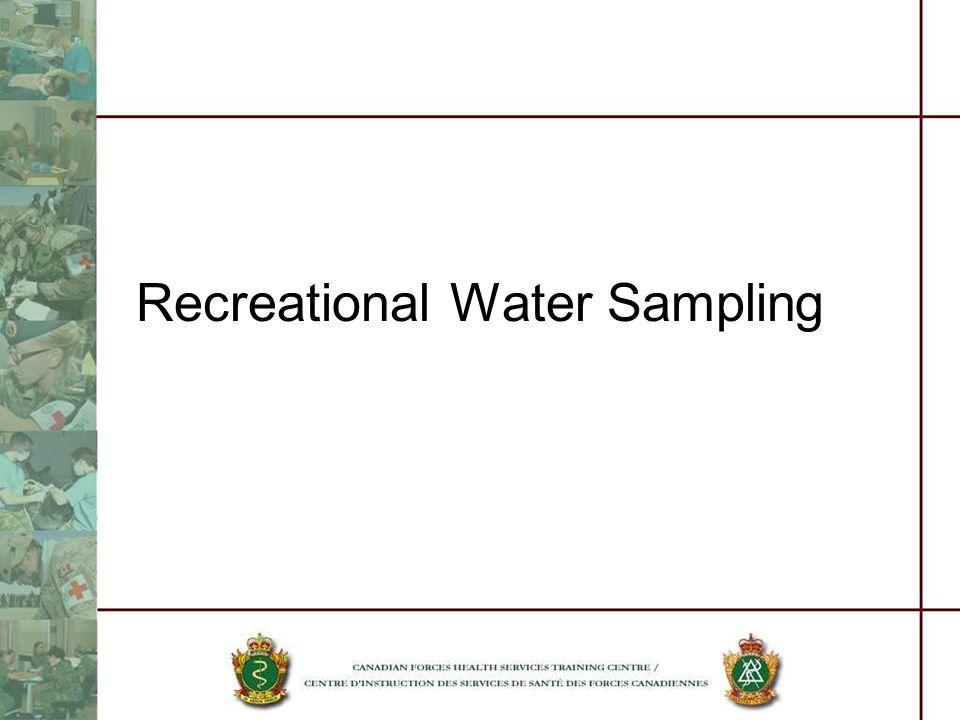 Recreational Water Sampling