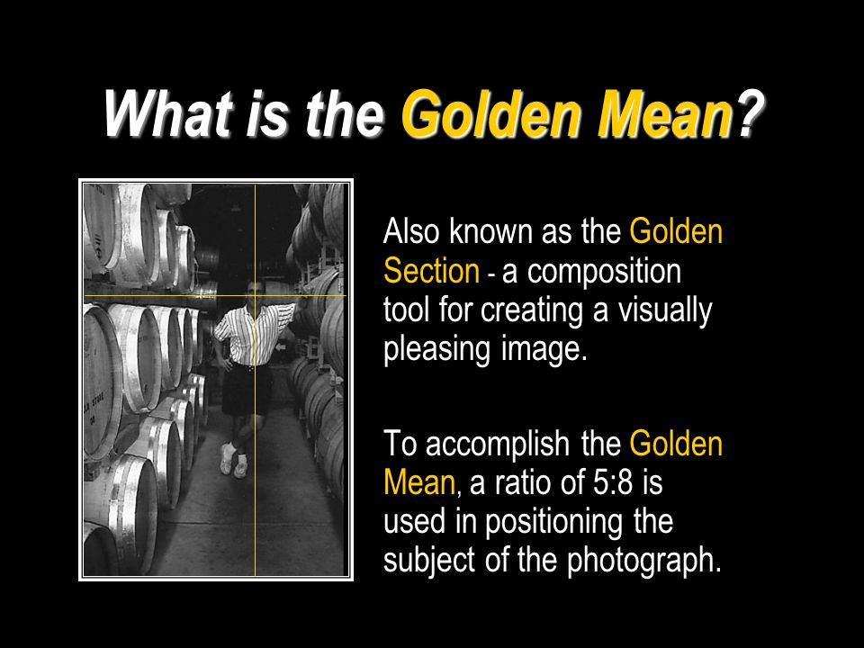 What is the Golden Mean.