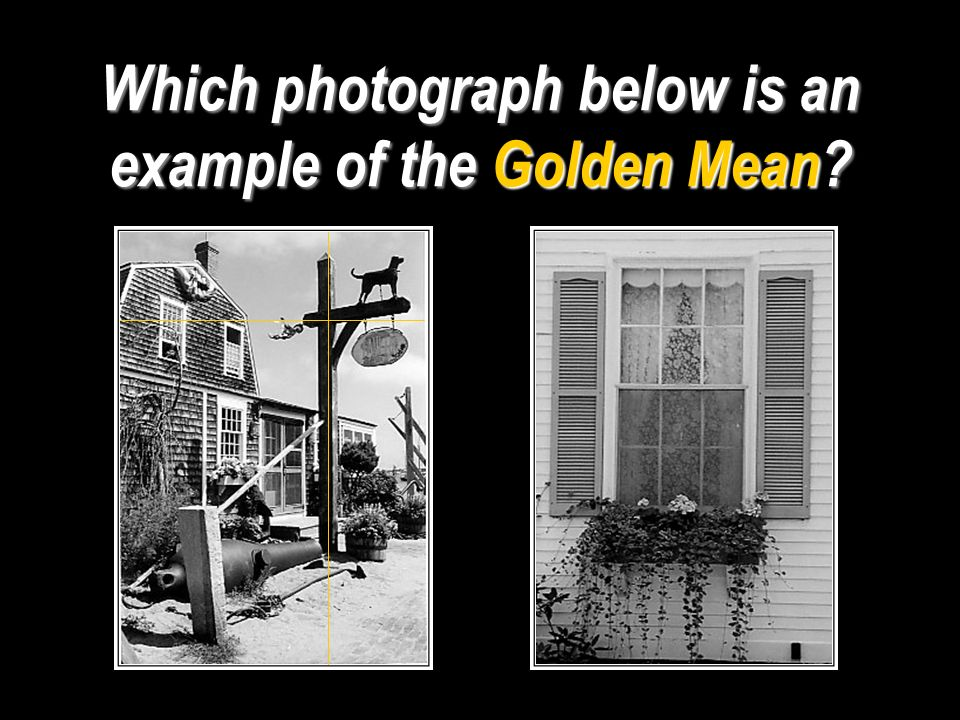Which photograph below is an example of the Golden Mean