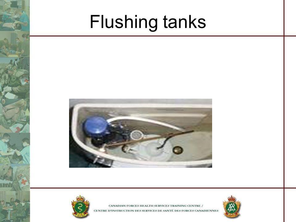 Flushing tanks