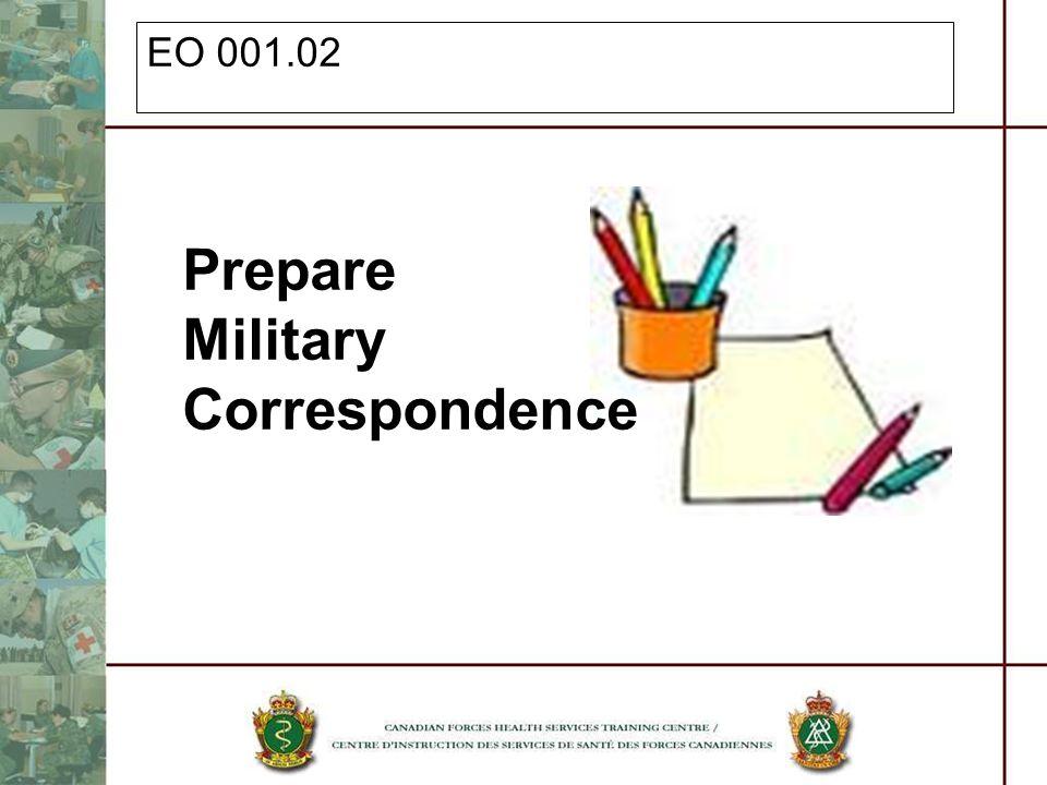 EO 001.02 Prepare Military Correspondence