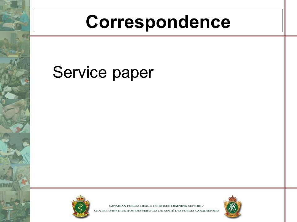 Correspondence Service paper