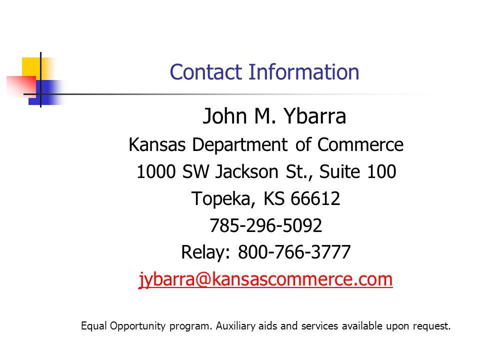Contact Information John M.