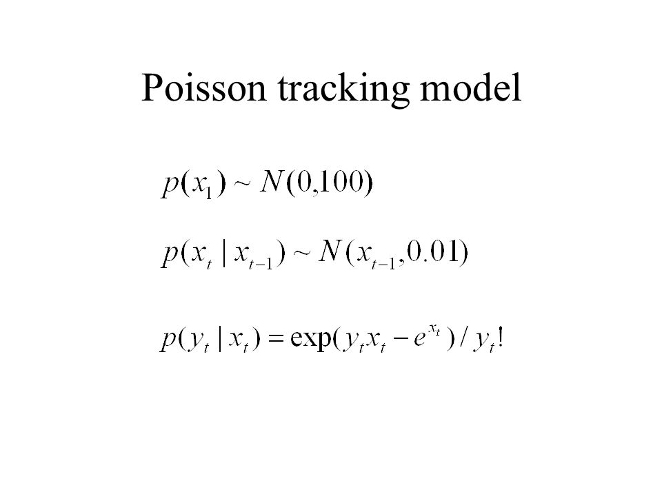 Poisson tracking model