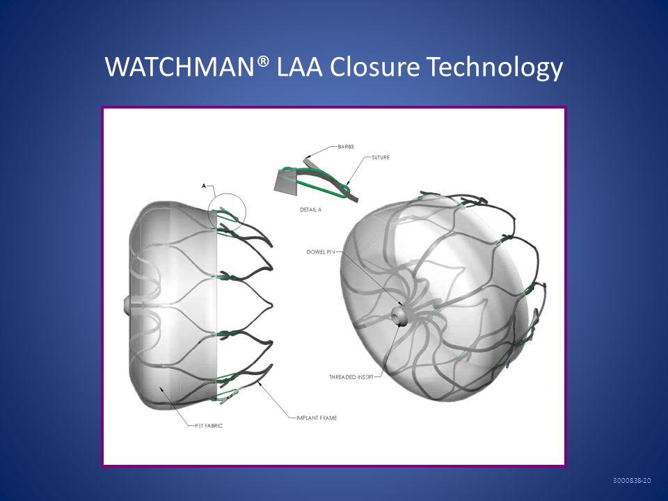 WATCHMAN® LAA Closure Technology 3000838-20
