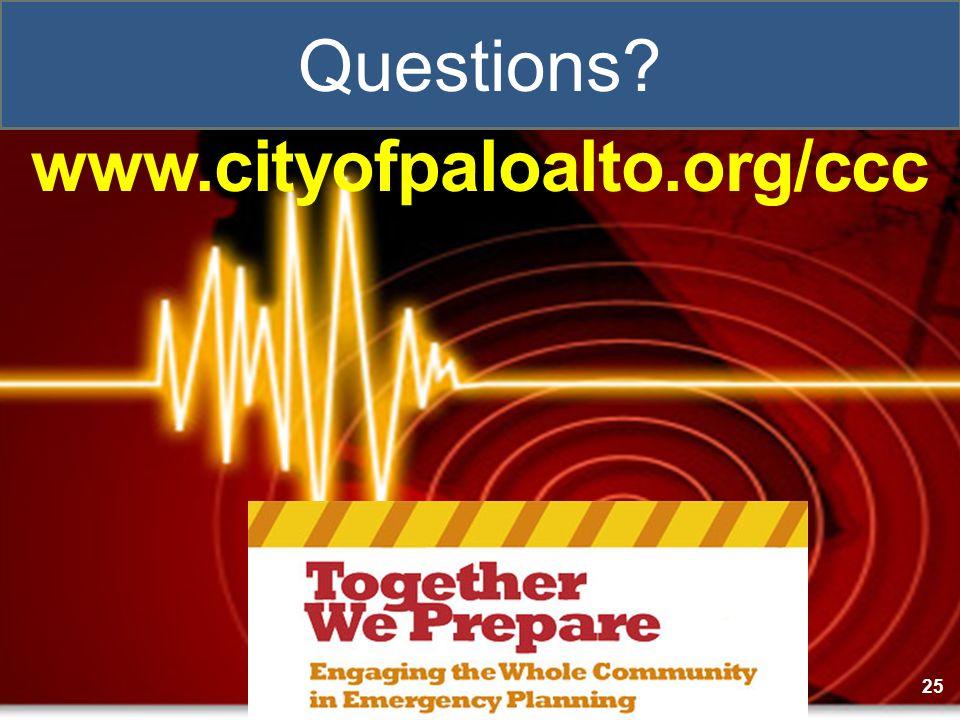 www.cityofpaloalto.org/ccc 25 Questions