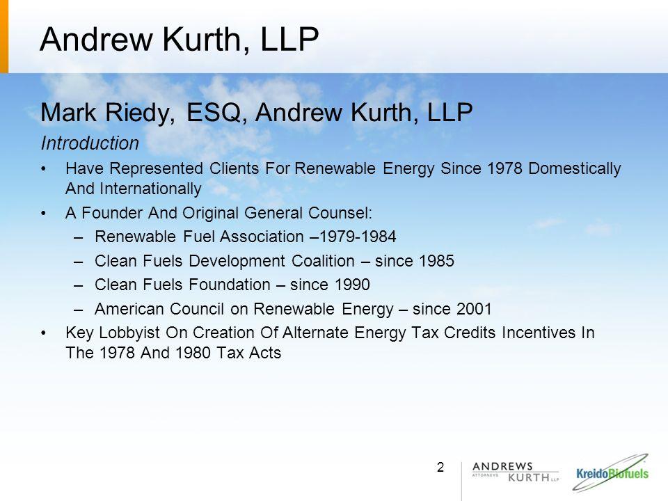 Kreido Biofuels, Inc.Larry Sullivan Chief Technology Officer Kreido Biofuels, Inc.