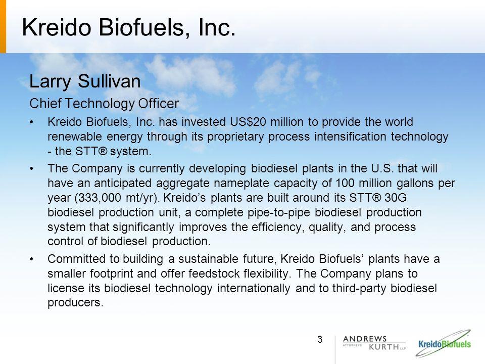 Kreido Biofuels, Inc.