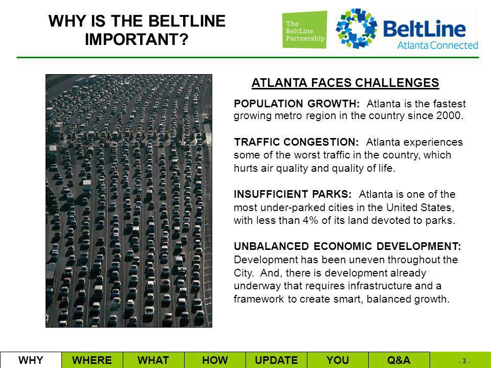 - 3 - WHY IS THE BELTLINE IMPORTANT.