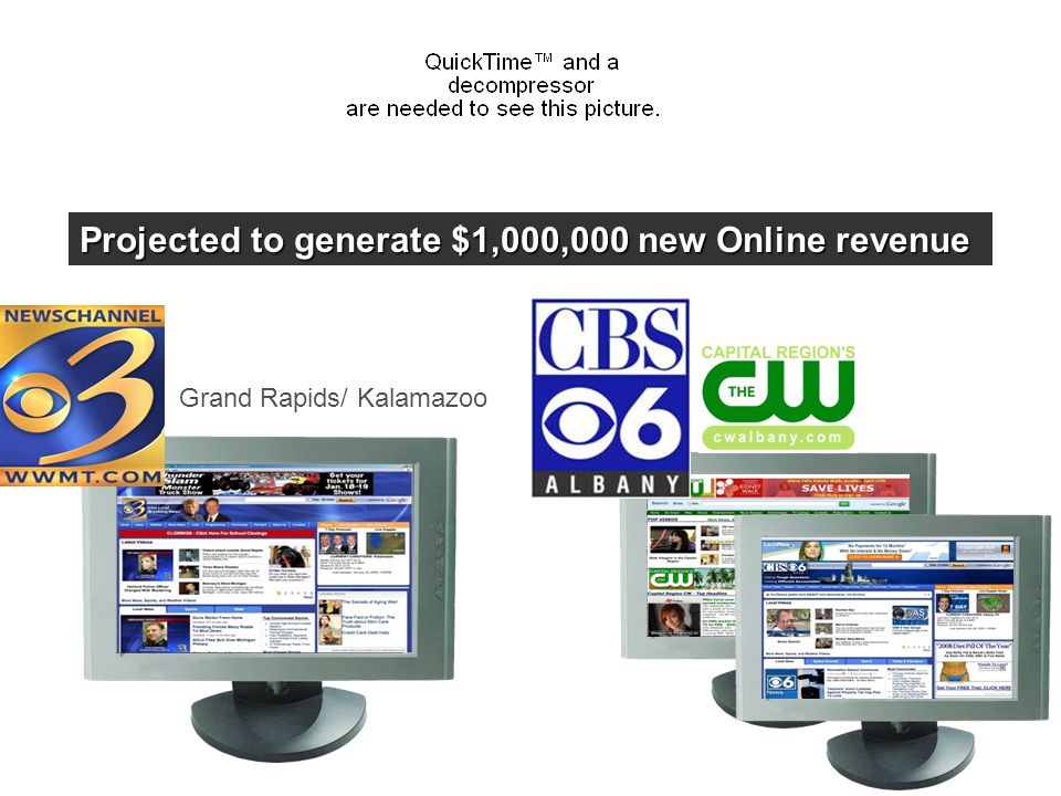 Grand Rapids/ Kalamazoo Projected to generate $1,000,000 new Online revenue