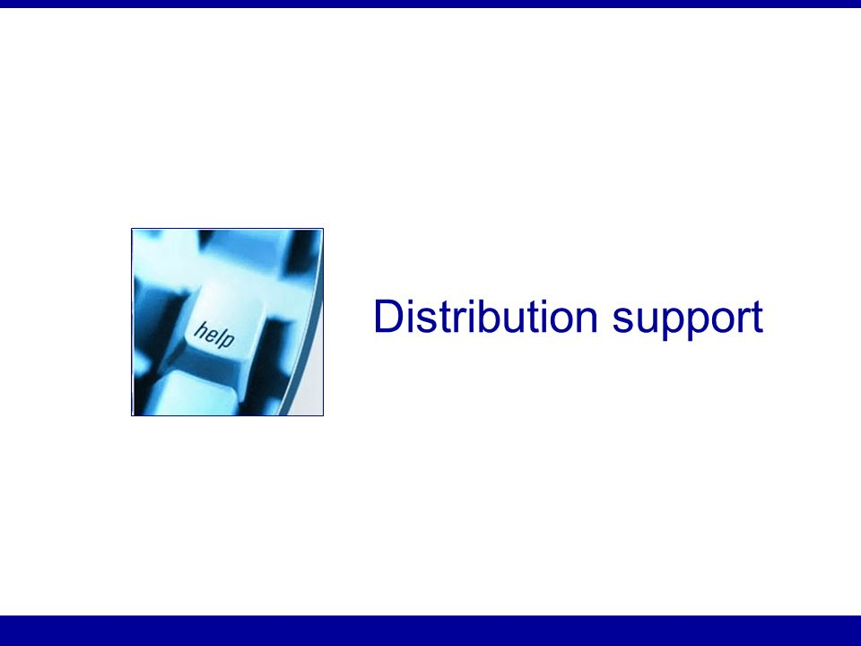 Distribution support