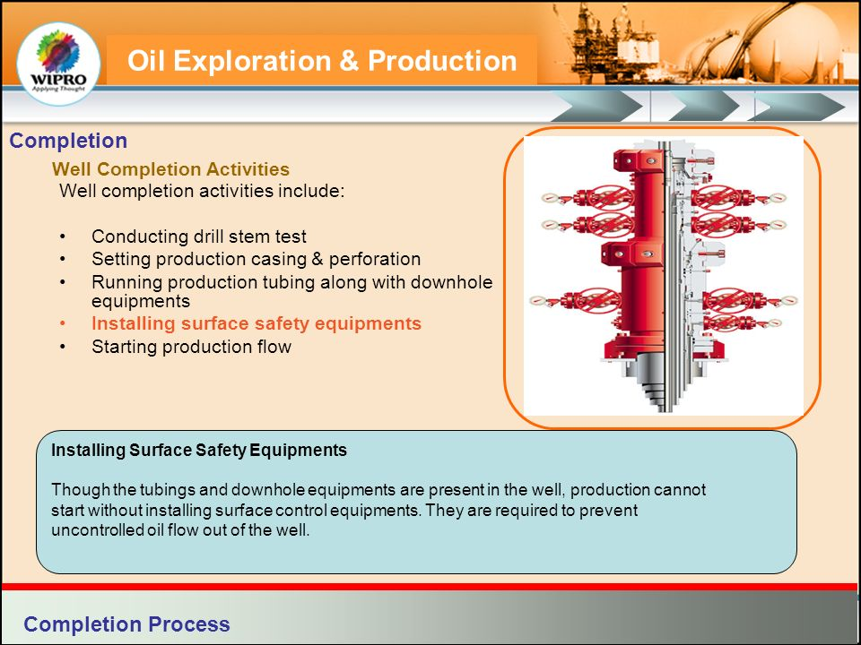 Oil Exploration & Production Installing Surface Safety Equipments Though the tubings and downhole equipments are present in the well, production canno