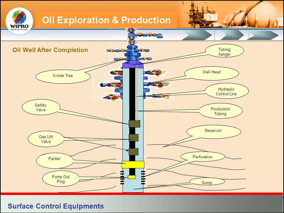 Oil Exploration & Production Well Head Reservoir Packer Safety Valve Gas Lift Valve X-mas Tree Tubing hanger Production Tubing Perforation Hydraulic C