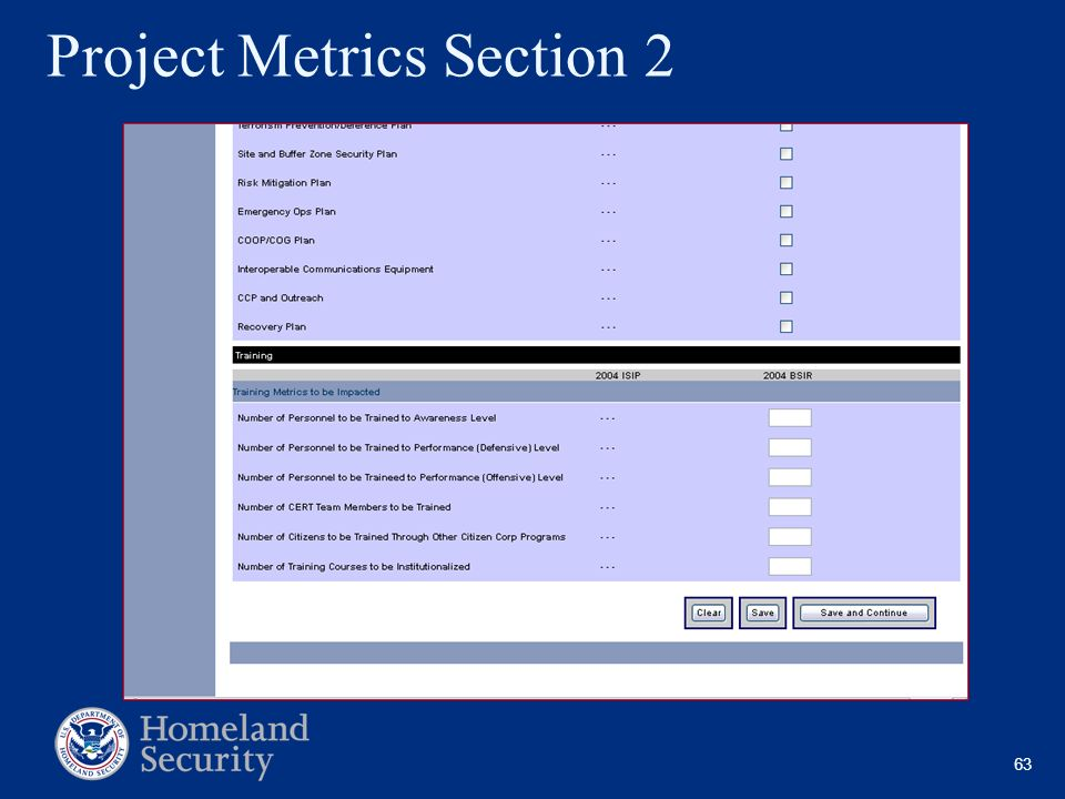 63 Project Metrics Section 2