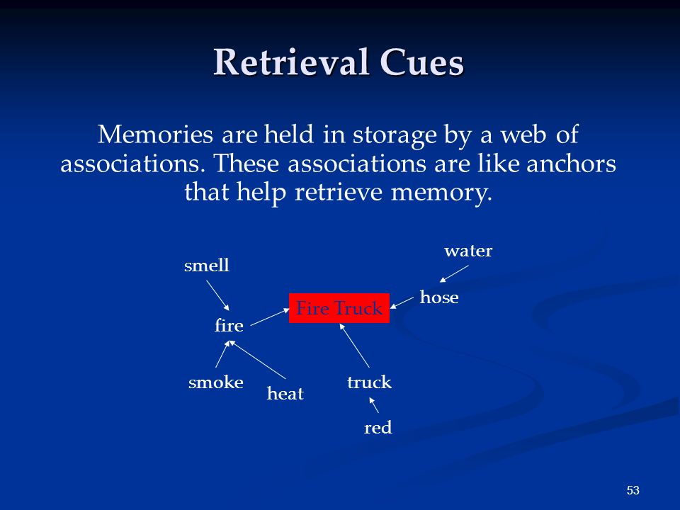 52 Measures of Memory In relearning, the individual shows how much time (or effort) is saved when learning material for the second time. List Jet Dagg