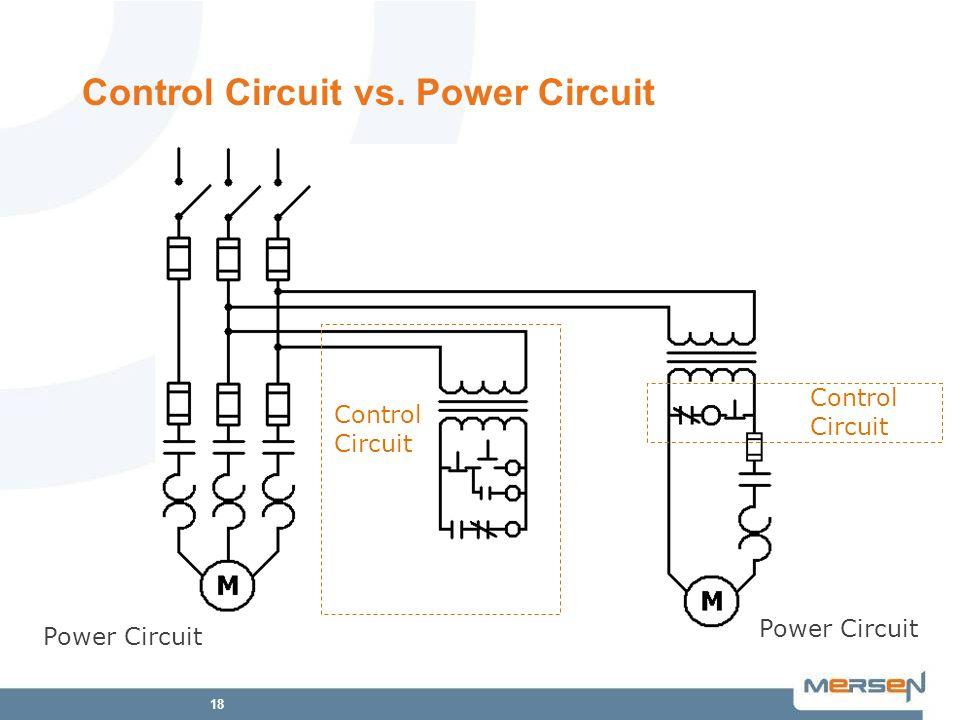 18 Control Circuit vs. Power Circuit Power Circuit Control Circuit