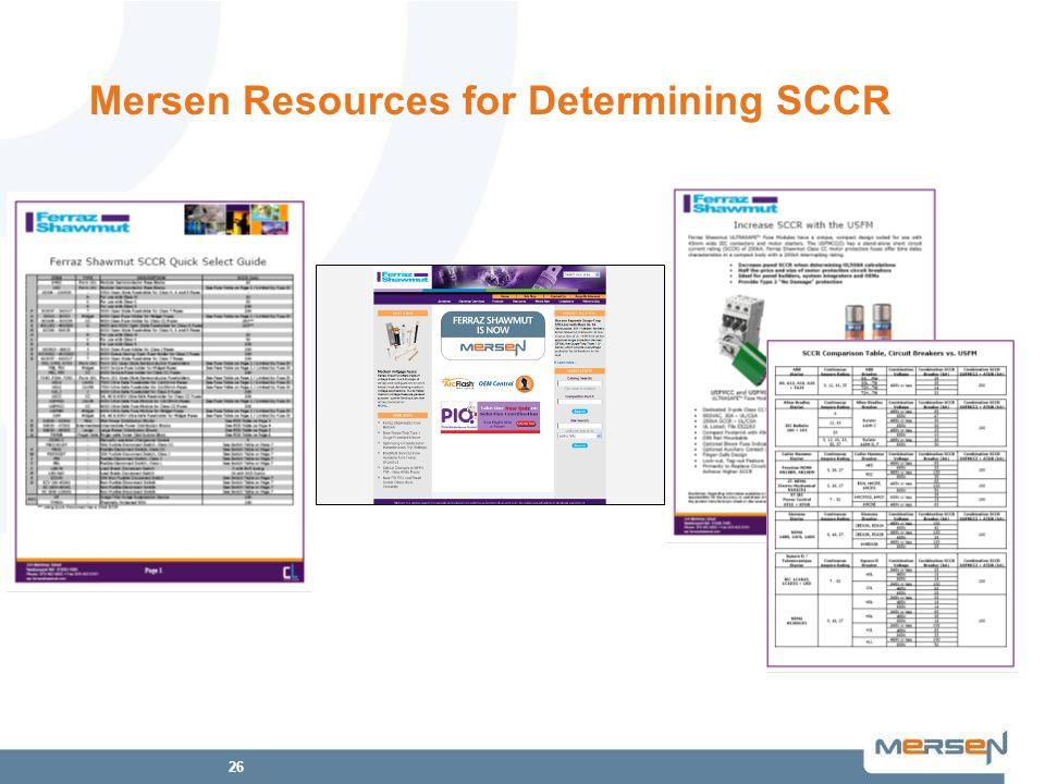 26 Mersen Resources for Determining SCCR