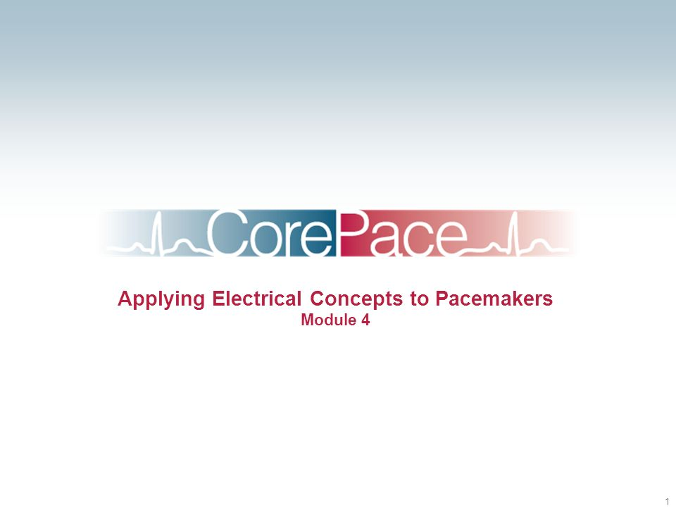 1 Applying Electrical Concepts to Pacemakers Module 4