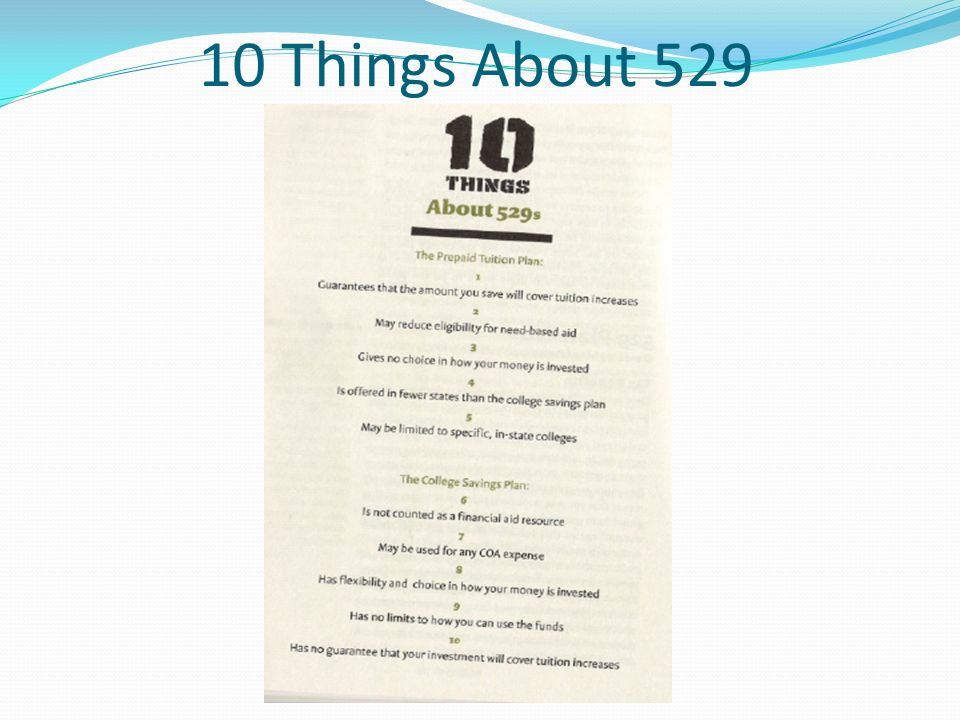 10 Things About 529