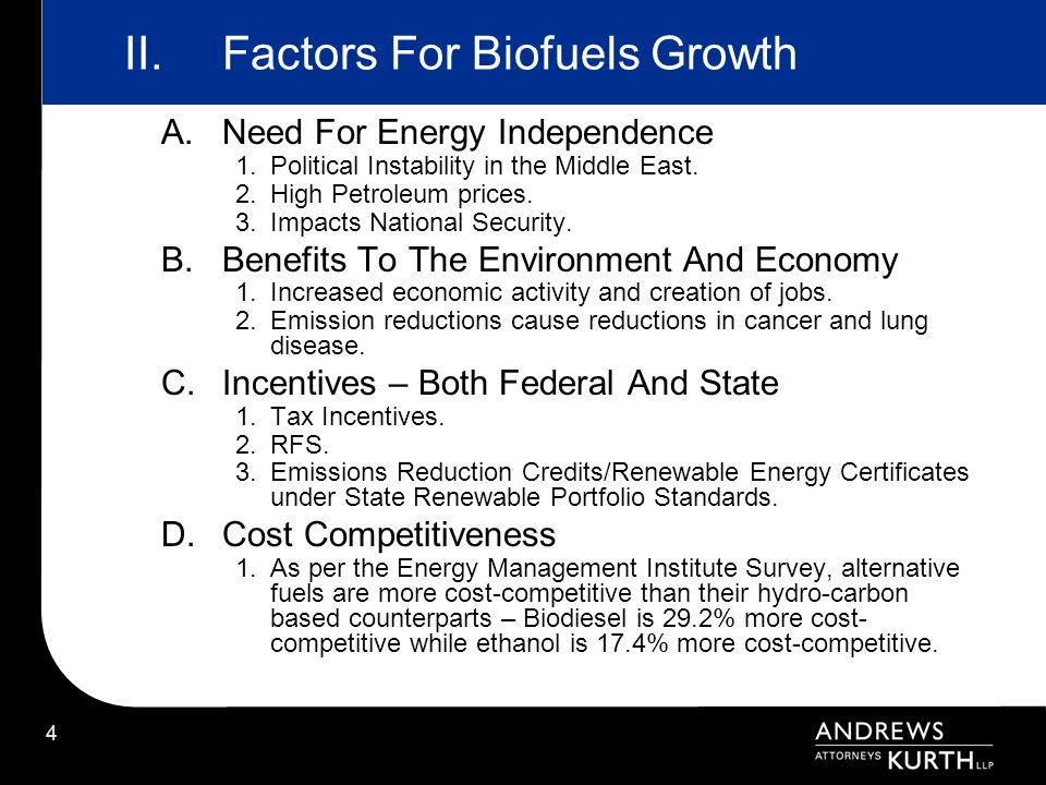 55 Energy Independence and Security Act of 2007 New RFS Mandate YearTotal Volume of Renewable Fuels (Billions of Gallons) Advanced Biofuel Requirement (Billions of Gallons) Cellulosic Requirement (Billions of Gallons) BioMass Diesel Requirement (Billions of Gallons) Resulting Cap on Corn Ethanol (Billions of Gallons) 20089.000 200911.100.600.5010.5 201012.950.950.1000.6512.0 201113.9501.350.2500.8012.6 201215.2002.000.5001.013.2 201316.5502.7501.0001.013.8 201418.1503.7501.7501.014.4 201520.5005.5003.0001.015.0 201622.2507.5004.2501.015.0 201724.0009.0005.5001.015.0 201826.00011.0007.0001.015.0 201928.00013.0008.5001.015.0 202030.00015.00010.5001.015.0 202133.00018.00013.5001.015.0 202236.00021.00016.0001.015.0