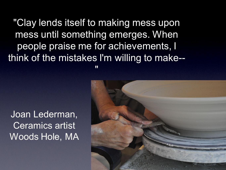 Joan Lederman, Ceramics artist Woods Hole, MA