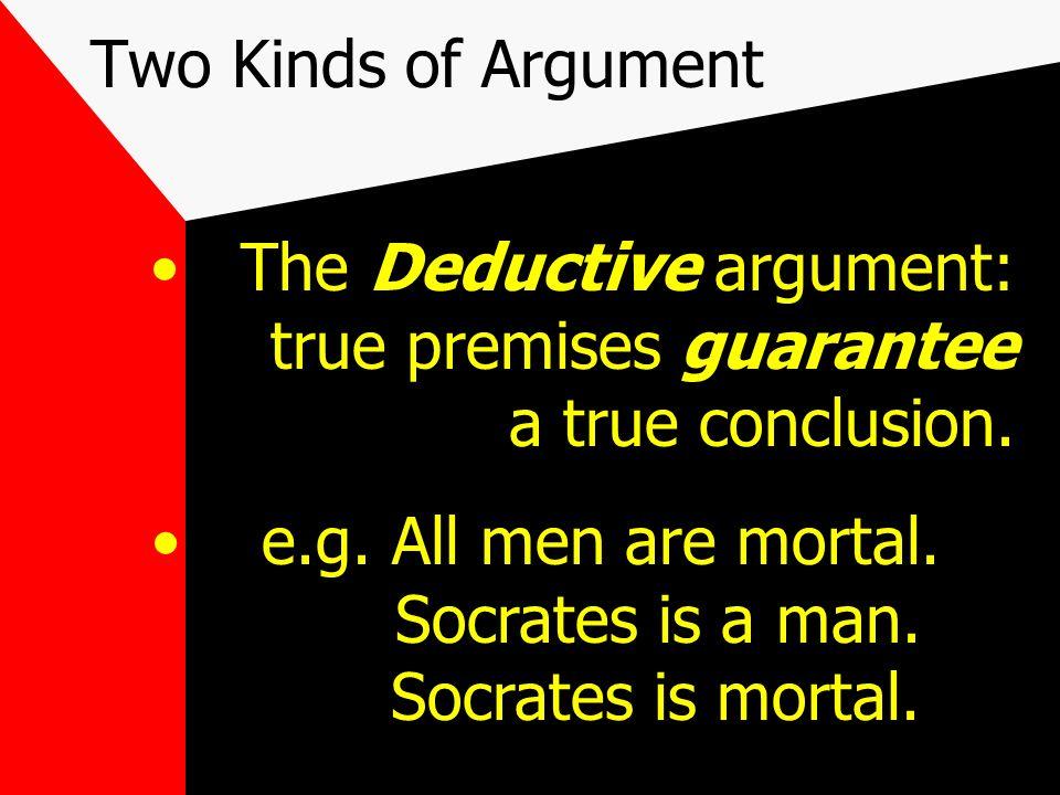 The Basics of Logical Argument