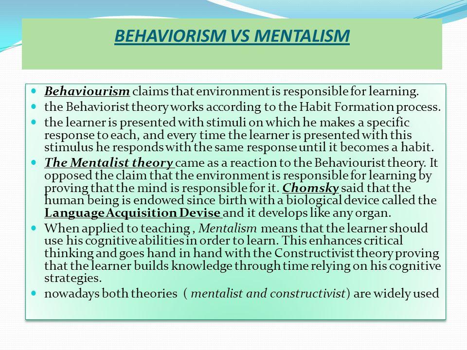 behaviorism vs humanism