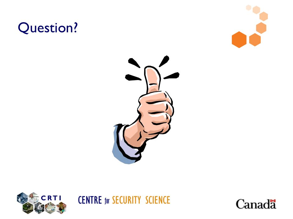 CENTRE for SECURITY SCIENCE Question?
