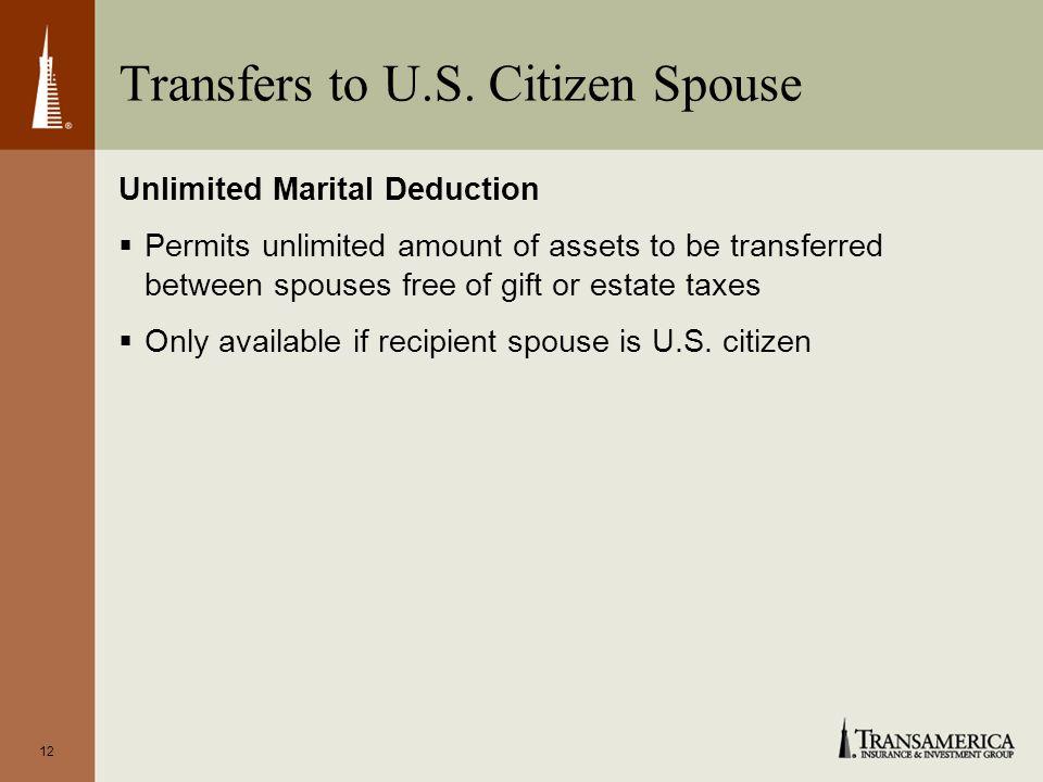 12 Transfers to U.S.