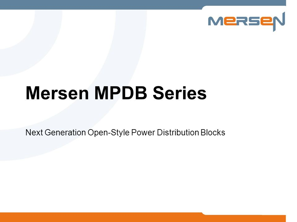 Mersen MPDB Series Next Generation Open-Style Power Distribution Blocks