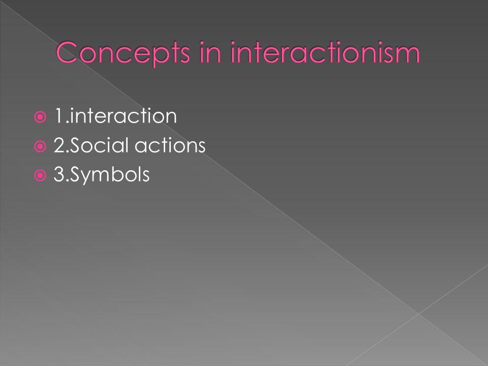 1.interaction 2.Social actions 3.Symbols