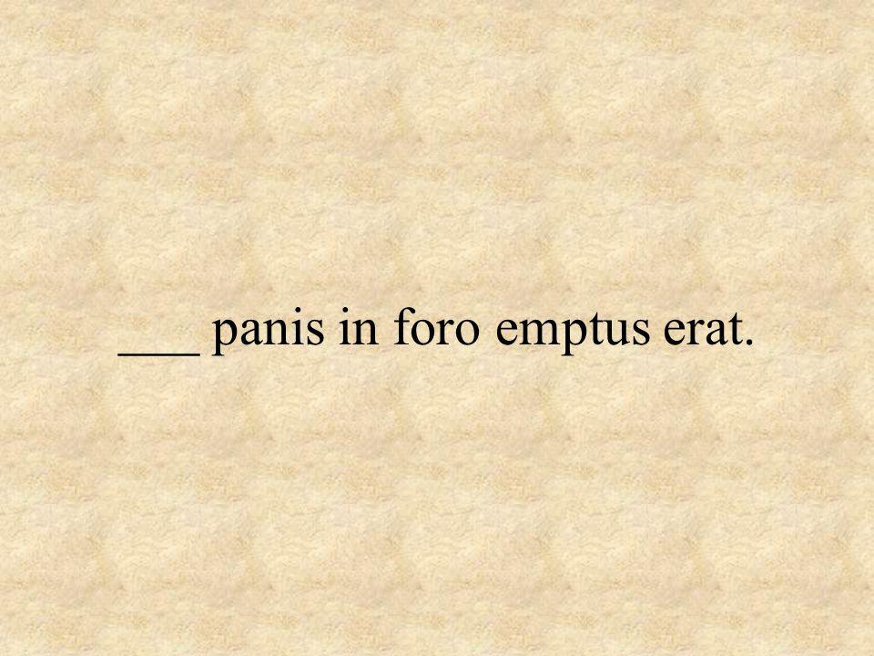___ panis in foro emptus erat.