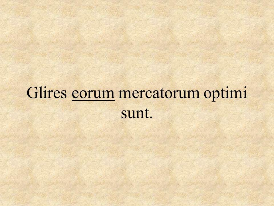 Glires eorum mercatorum optimi sunt.
