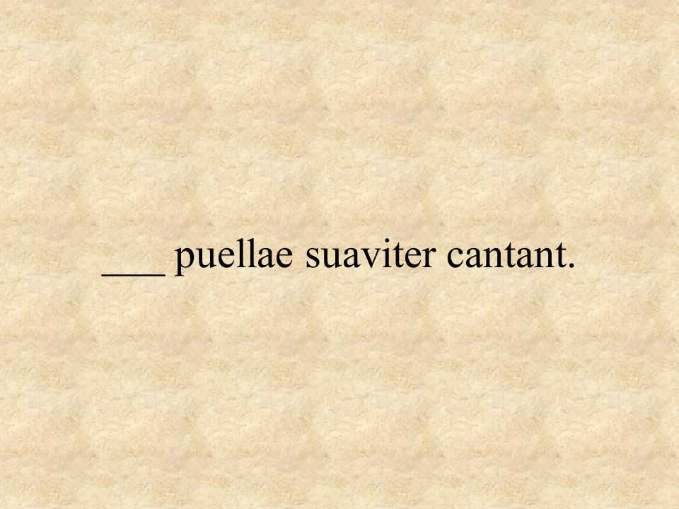 ___ puellae suaviter cantant.