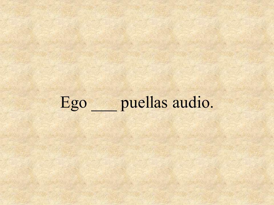 Ego ___ puellas audio.