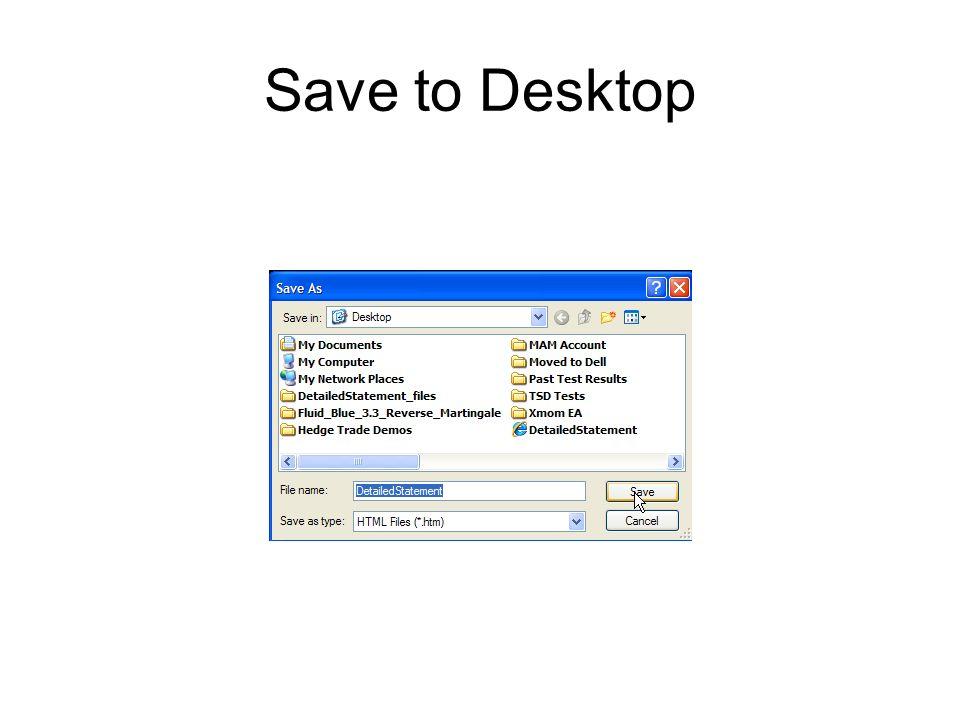 Save to Desktop