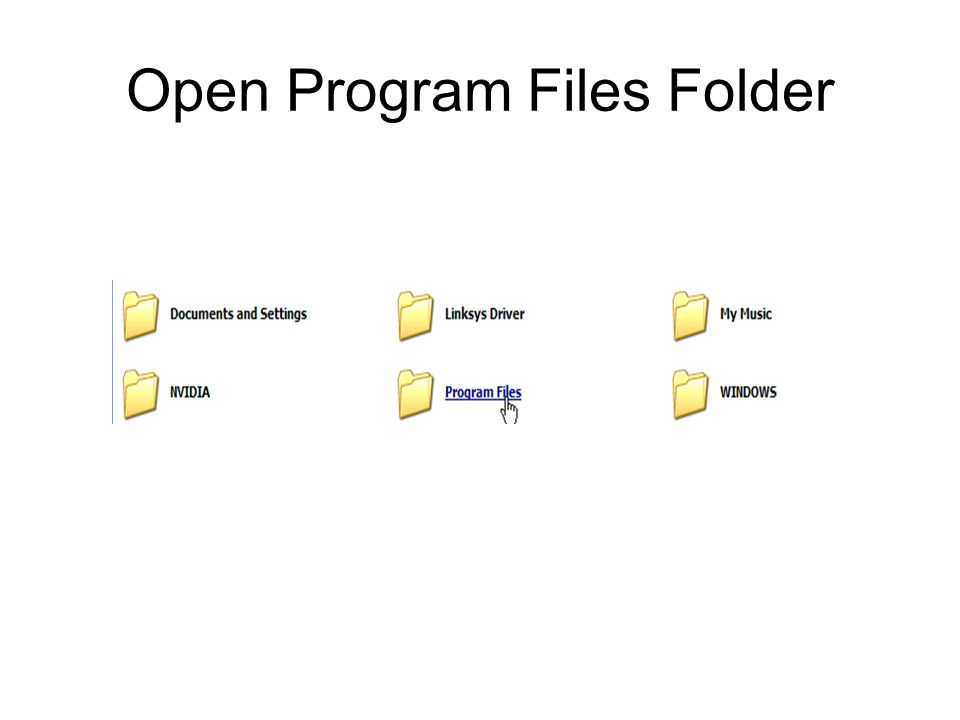 Open Program Files Folder