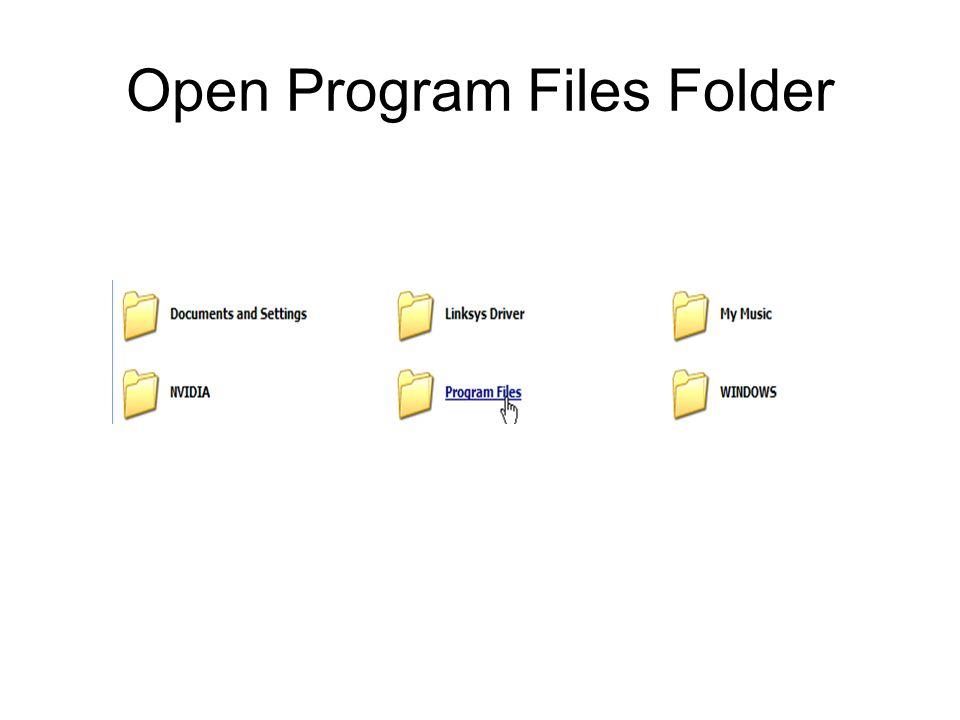 Open Program Files Folder
