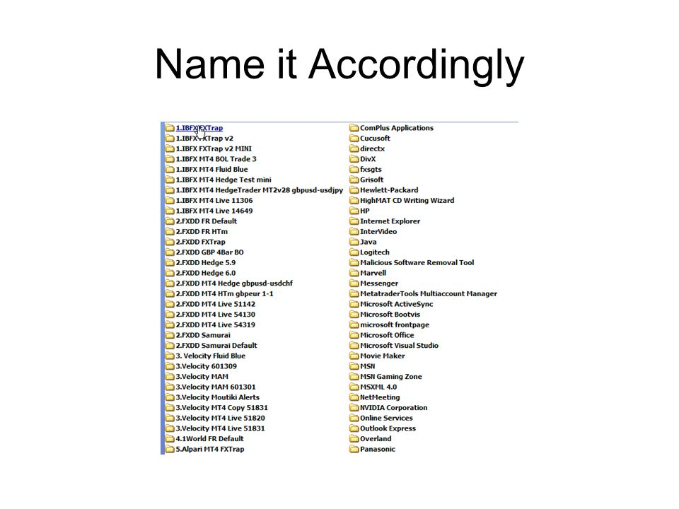 Name it Accordingly