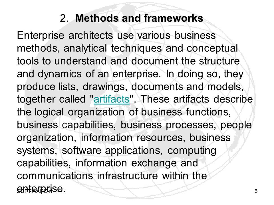 SOFTWARE-rt6 Methods and frameworks 2 2.