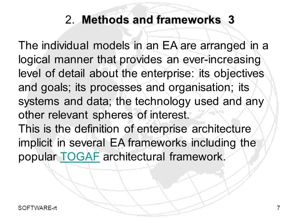 SOFTWARE-rt8 Methods and frameworks 4 2.