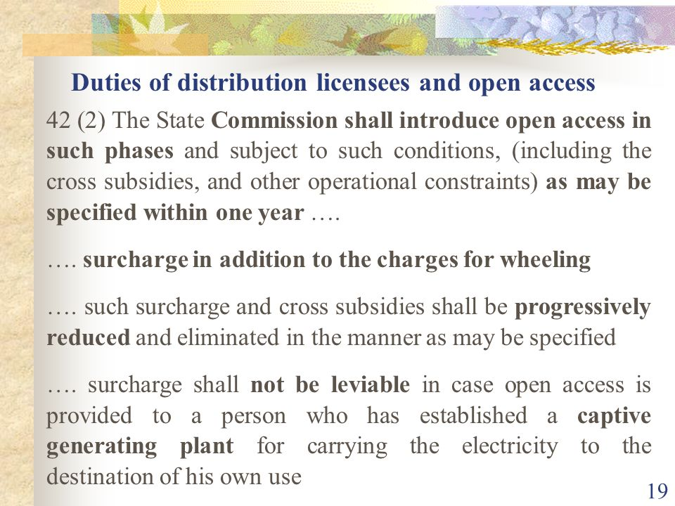 18 Introduction of Open Access & Distribution of Electricity
