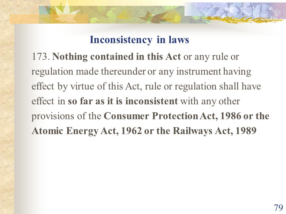 78 Impact on other laws