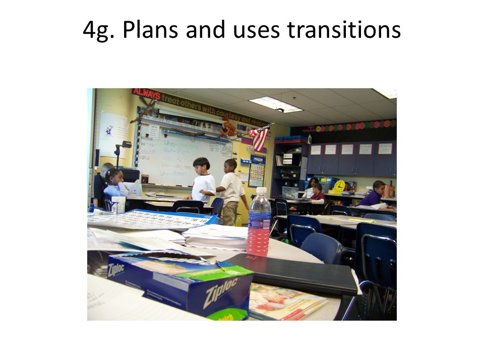 4g. Plans and uses transitions