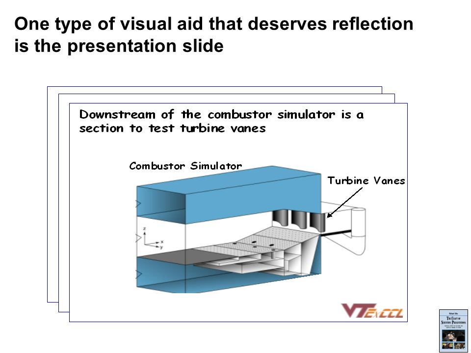 One type of visual aid that deserves reflection is the presentation slide