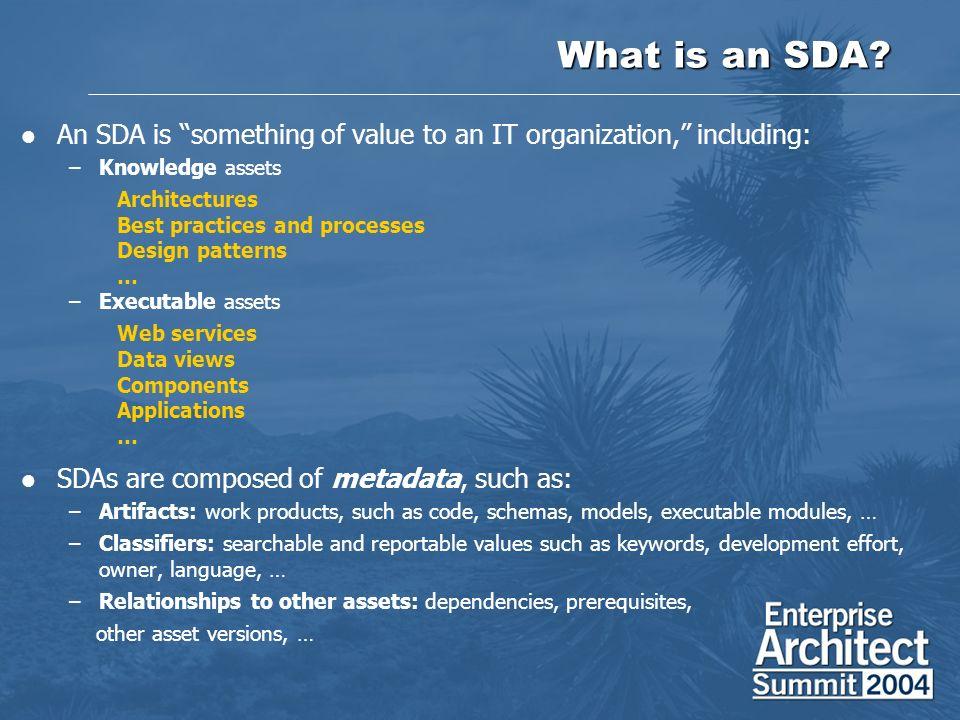 What is an SDA.
