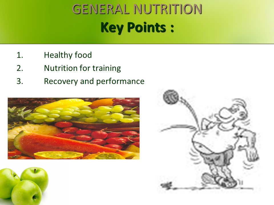 Nutrition for Optimal Health and Performance Are you eating the right foods to be the best?!!