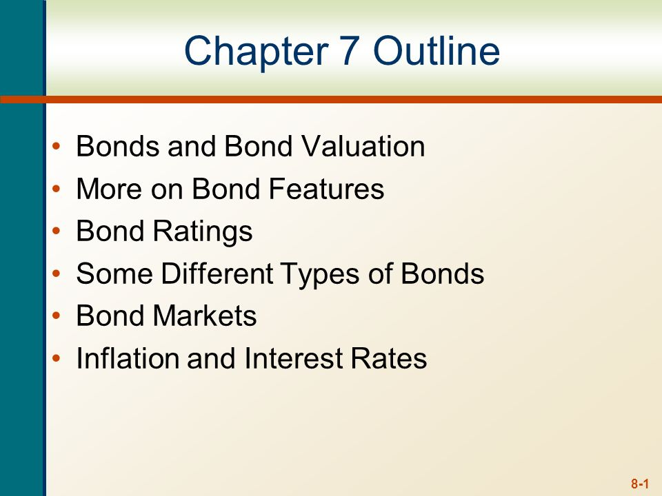 8-0 Week 4 Lecture 4 Ross, Westerfield and Jordan 7e Chapter 7 Interest Rates and Bond Valuation Chapter 8 Stock Valuation