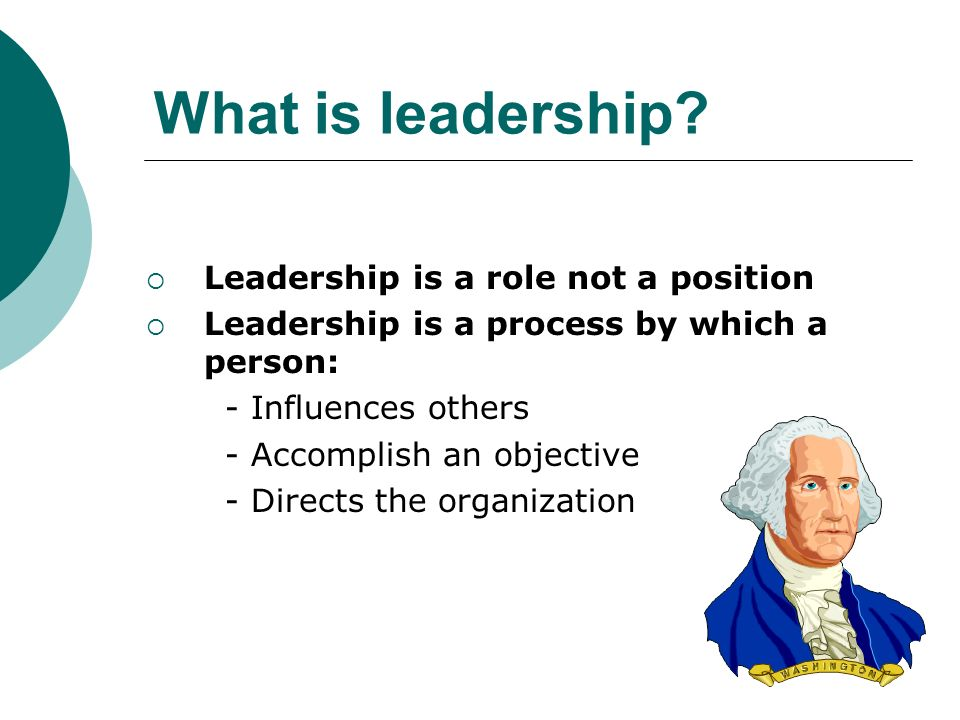 What is leadership? Leading people Influencing people Commanding people Guiding people